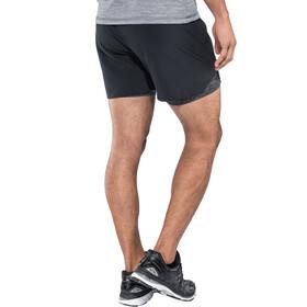 Odlo Millennium Linencool PRO 2-en-1 Shorts Hombre, black-black